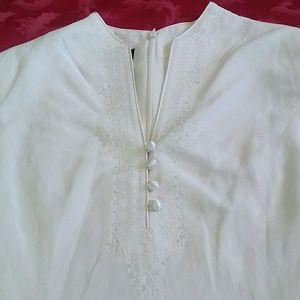 Jones New York Asian silk tunic dress